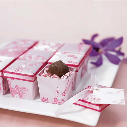 Asian Brocade Favor Boxes