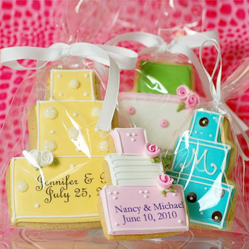 Personalized Wedding Cake Cookies