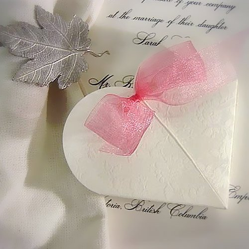 Embossed Heart Favor Boxes