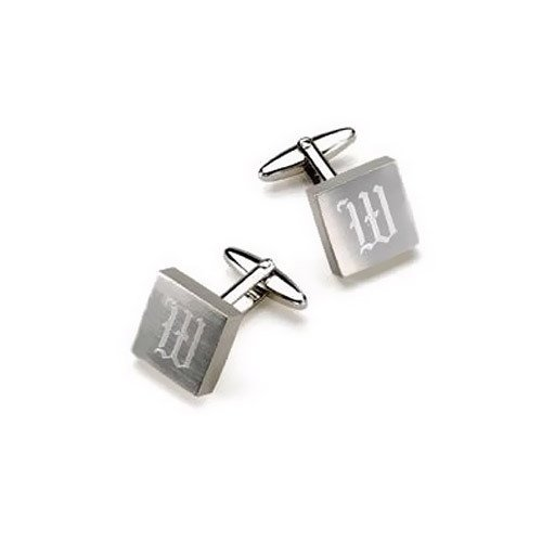 Single Initial Square Cufflinks