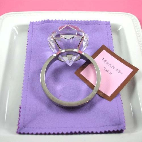 Giant Diamond Ring Paperweight