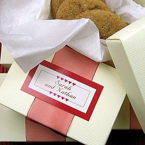 Pinstripe Rectangular Favor Boxes