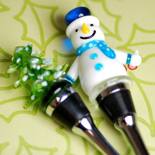 Christmas, Winter Themed Wine Bottle Stopper