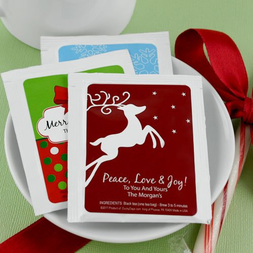 Holiday Tea Bag Favors