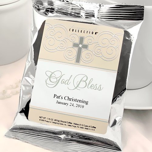 Personalized Christening and Baptism Coffee Pack Favors