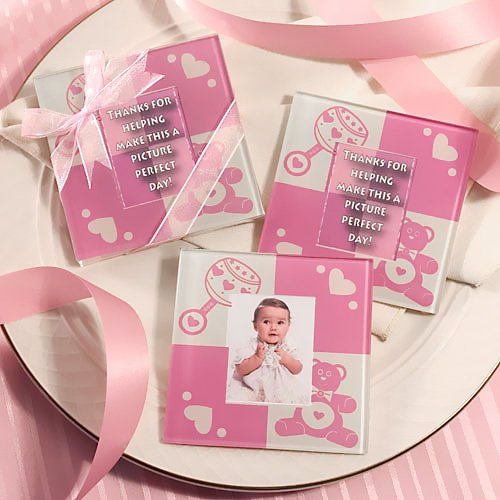 Baby Themed Glass Photo Coasters