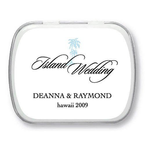 Personalized Mint Tins - Tropical Palm Tree