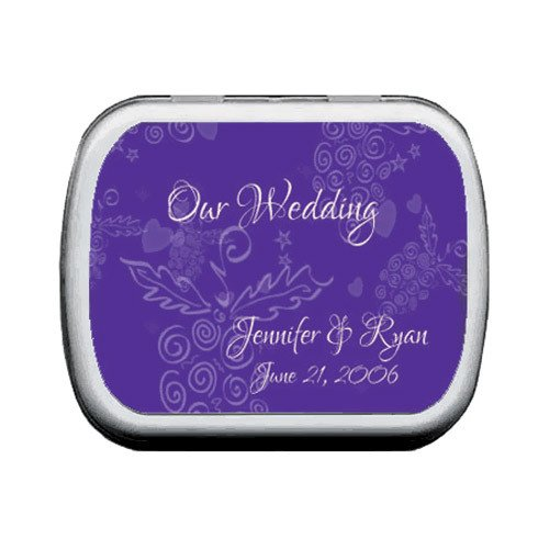Grapes Wine Wedding Personalized Mint Tins