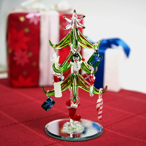 Small Glass Christmas Tree