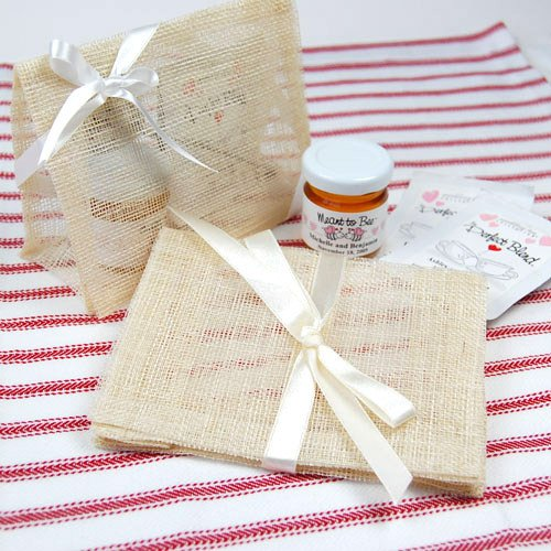 Natural Sinamay Envelopes with Ribbon Tie