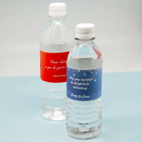 Personalized Holiday Water Bottles