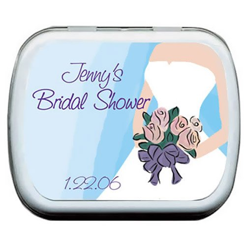 Wedding Dress Bridal Shower Mint Tins