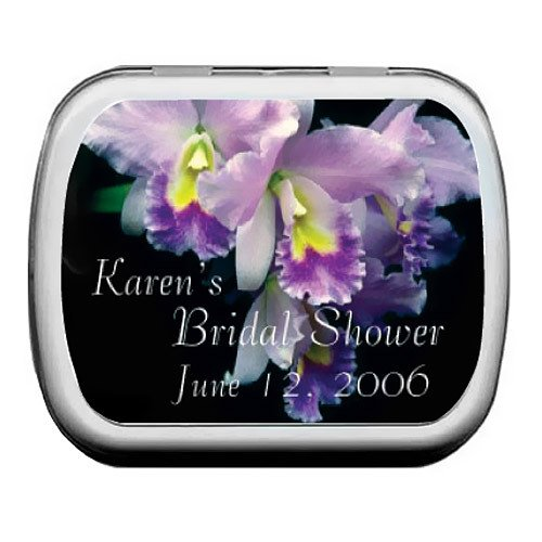 Customized Bridal Shower Mint Tins - Iris Bouquet