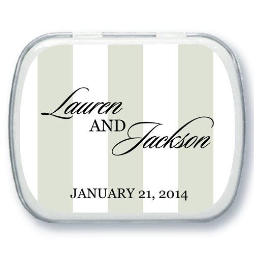 Personalized Wedding Mint Tins - Wedding Pinstripes Designs
