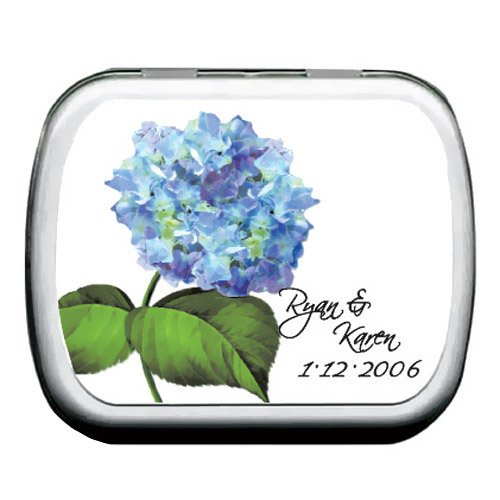 Hydrangea Personalized Mint Tins