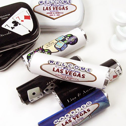 Personalized Casino Themed Life Saver Rolls