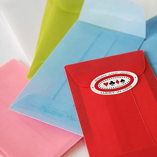 Mini Colored Vellum Envelopes