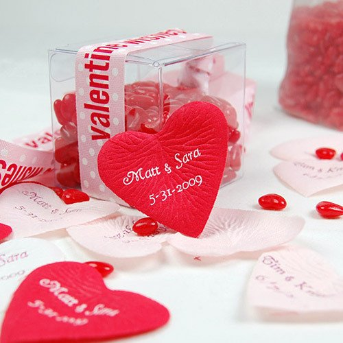 Personalized Heart Shaped Petals