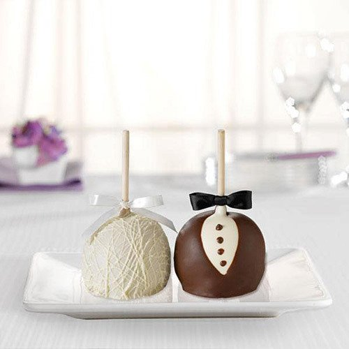 Bride and Groom Chocolate Caramel Apples