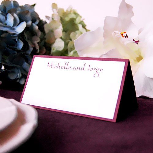 Personalized Two Tone Place Cards