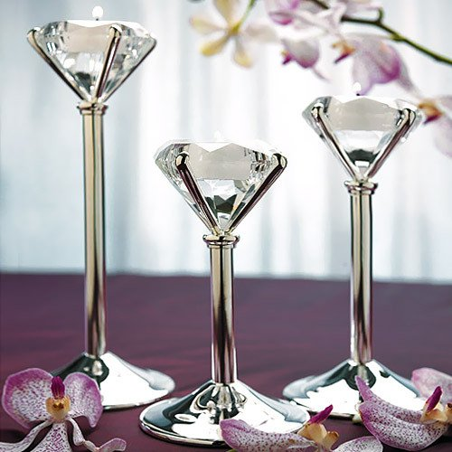Diamond Shaped Tea Light Holders