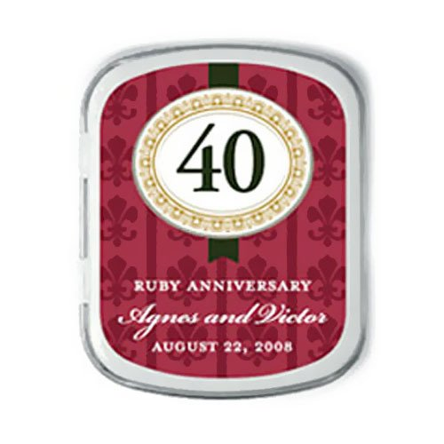 Personalized Anniversary Party Mint Tins