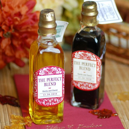 Mini Oil and Vinegar Bottles with Personalized Labels
