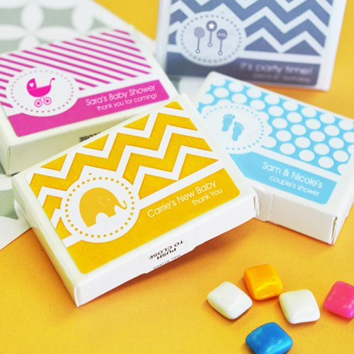Personalized Baby Shower Gum Favors