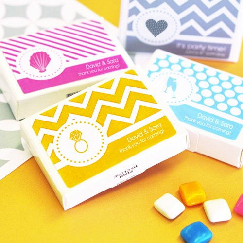 Personalized Modern Themed Gum Favors