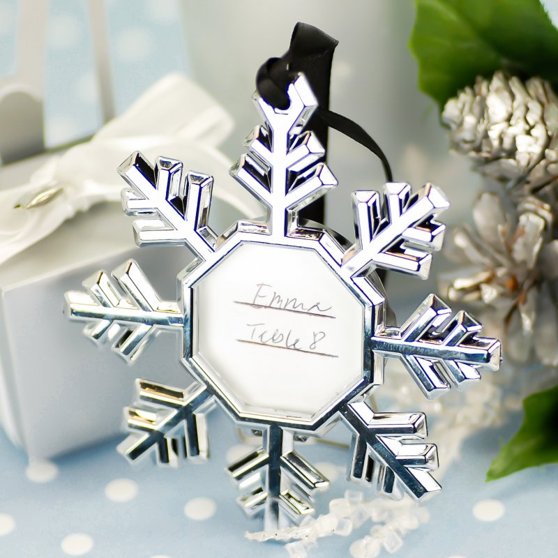 Snowflake Place Card Ornament Frames