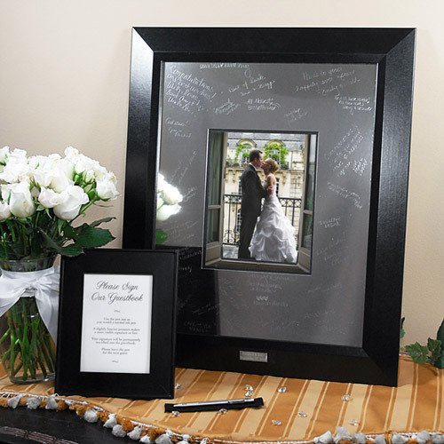 Engraved Signature Picture Frame with Photo Mat
