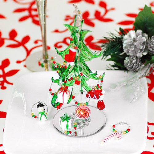 Mini Crystal Wine Charm Tree