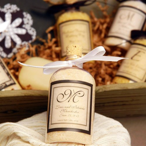 Personalized Bath Salt Favors