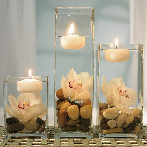 Colored Floating Candles