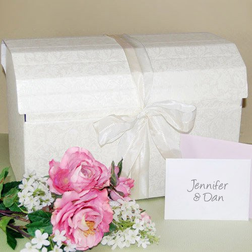 Embossed Treasure Chest Wedding Card Box