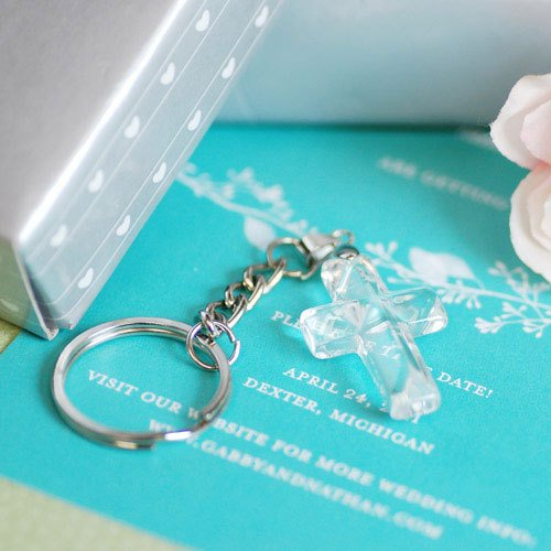 Crystal Cross Key Chain