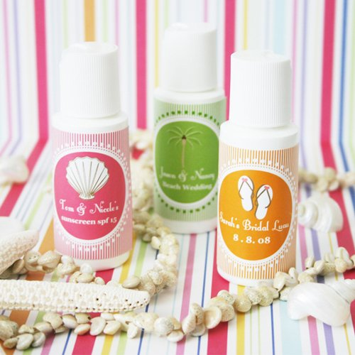 Personalized Sunscreen Wedding Favor