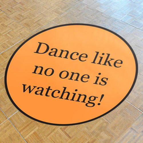 Custom Printed Dance Floor Decal