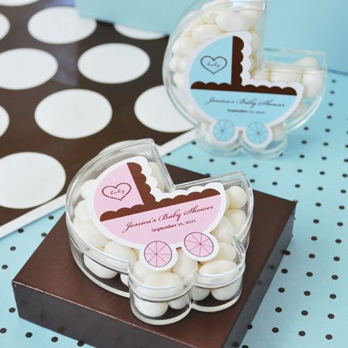 Personalized Baby Carriage Acrylic Favor Box
