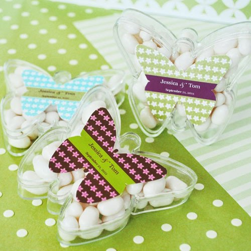 Personalized Butterfly Acrylic Favor Box