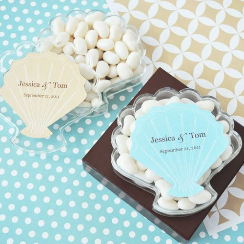 Personalized Seashell Acrylic Favor Boxes