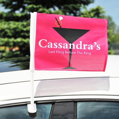 Bachelorette Party Car Flag