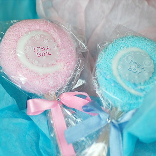 Baby Shower Lollipop Towel Favor
