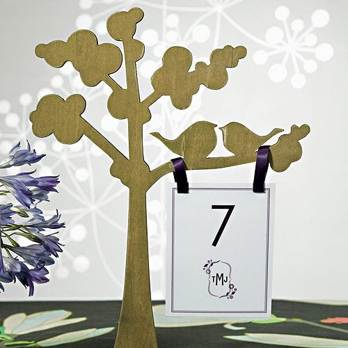 Love Birds Silhouette Centerpiece Trees