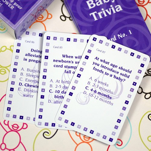 Baby Shower Trivia Cards
