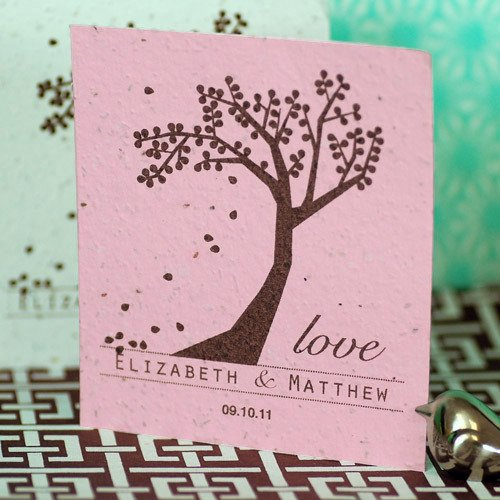 Personalized Plantable Celebration Seed Card Favor