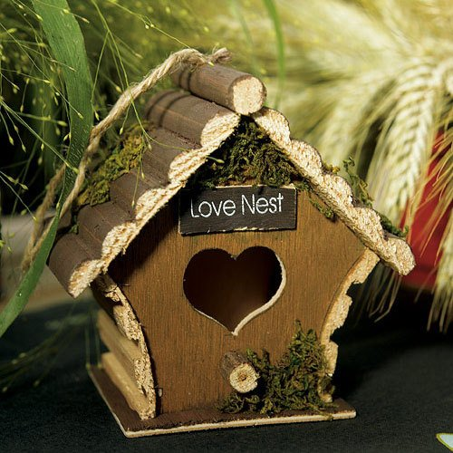 Mini Wooden Bird House
