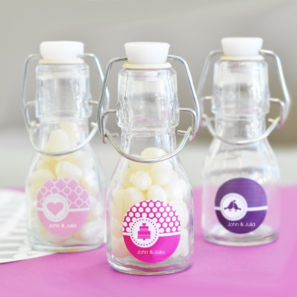 Wedding Personalized Mini Glass Bottle