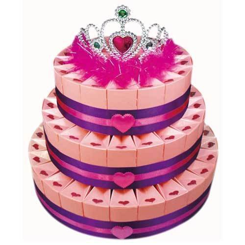 Three Tier Sweetheart Favor Cake Kit