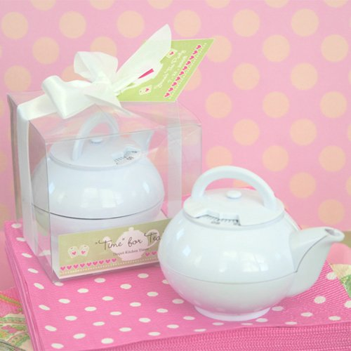 Mini White Teapot Timer